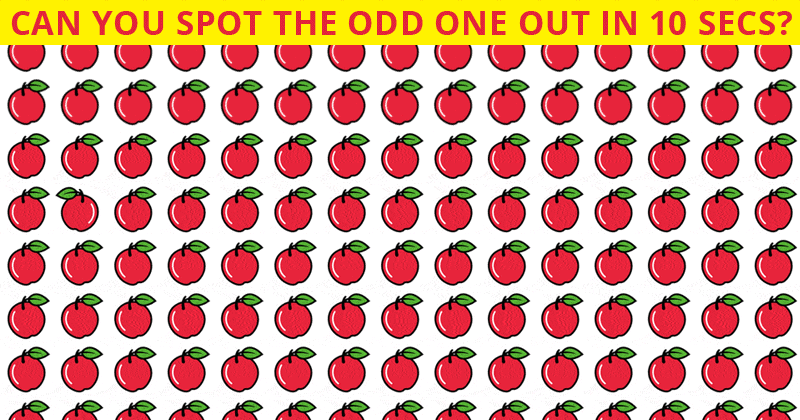 Only 1 In 35 People Can Ace This Odd Ones Out Visual Game. Are You Up To The Challenge?