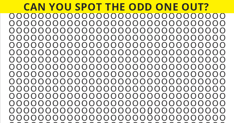 Nobody Can Solve This Crazy Tough Test. Can You Spot The Odd One Out In Less Than 10 Seconds?