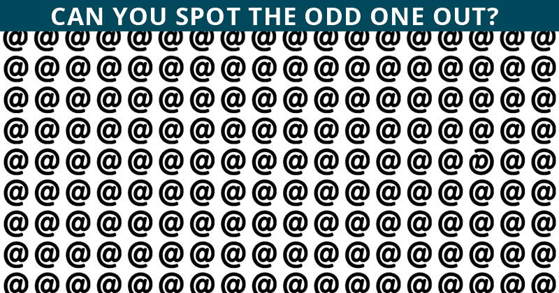 If You Can See The Odd One Out Within 15 Seconds, You Have An Extremely Sharp Brain!