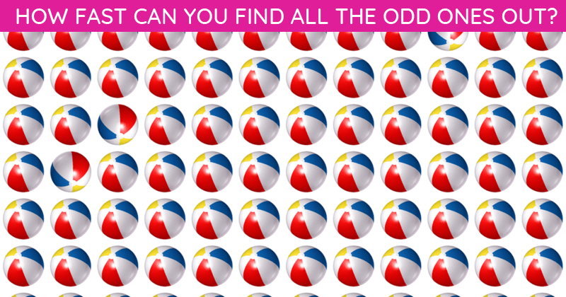 Only 10 People Have Passed This Difficult Odd One Out Visual Challenge So Far! Will You?