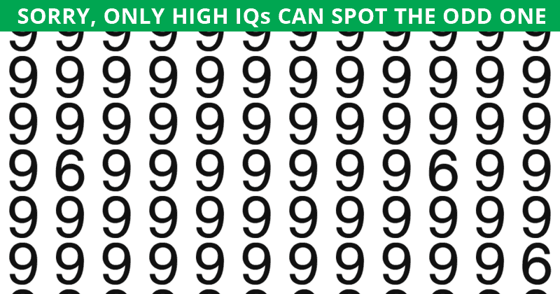 This Multiple Odd Ones Out Visual Puzzle Will Determine The Sharpness Of Your Eyesight In Less Than One Minute