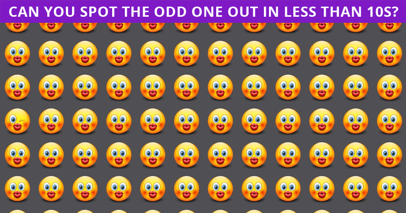 If You Can See The Odd One Out Within 7 Seconds, You Have An Extremely Sharp Brain!