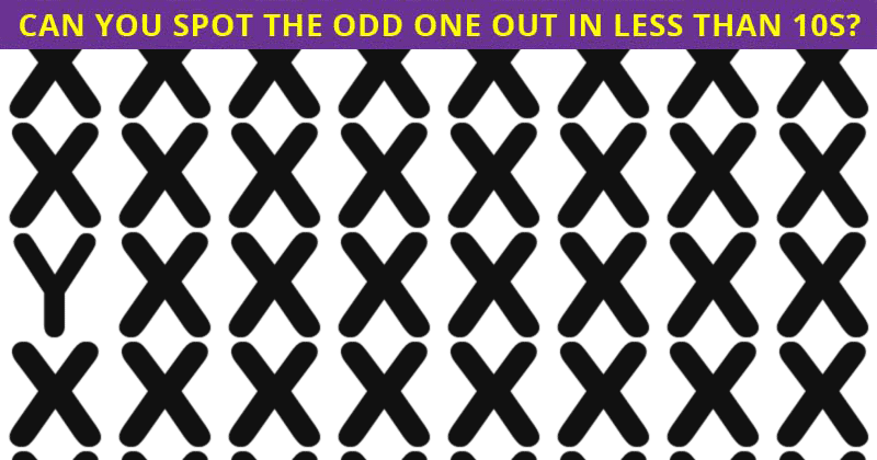 If You Can Pass This Odd One Out Test In 30 Seconds, You Have Unique Eyesight