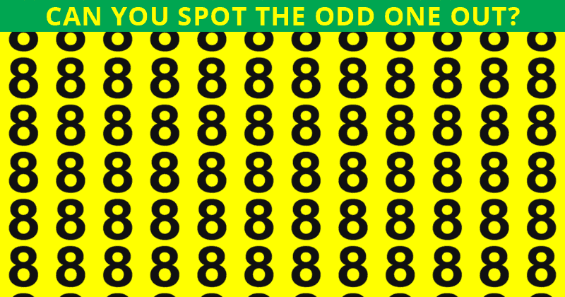 Only People With An Unusually High IQ Will Be Able To Best This Odd One Out Visual Game! How About You?