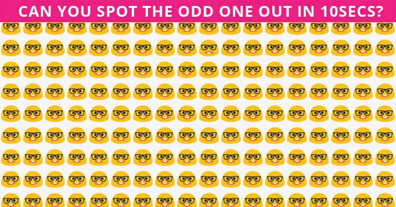 Only High IQs Can Spot The Odd One Out In Less Than 10 Seconds!