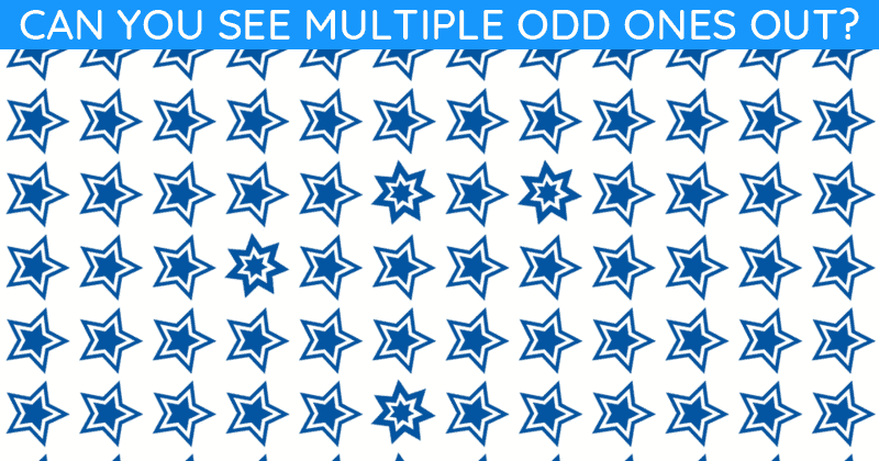 Only People With An Unusually High IQ Will Be Able To Best This Odd One Out Test! Can You?