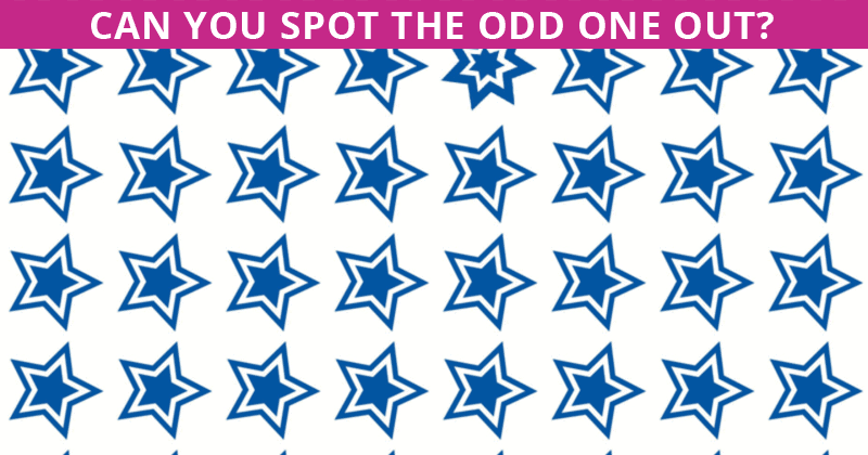 Only 1 In 30 Sharp-Eyed People Can Achieve 100% In This Odd One Out Test. How About You?