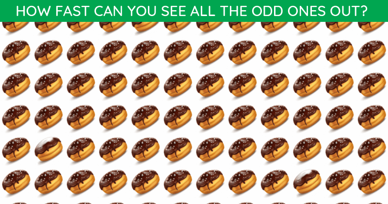 This Odd One Out Test Will Determine Your Visual Perception Abilities In Less Than One Minute