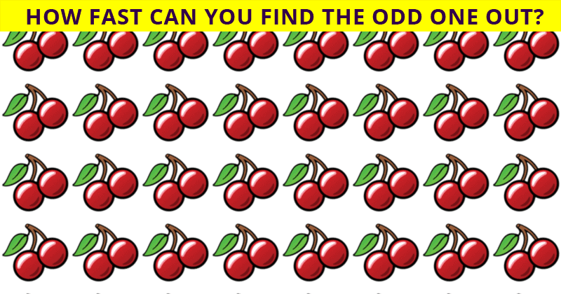 This Odd One Out Visual Game Will Determine Your Visual Perception Talents In Less Than 60 Seconds