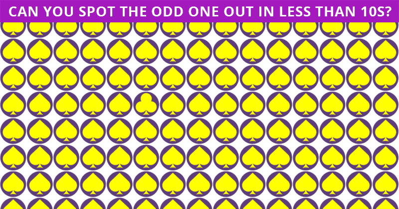 Only 6% Of People Can Achieve 100% In This Tough Odd One Out Visual Test. How About You?