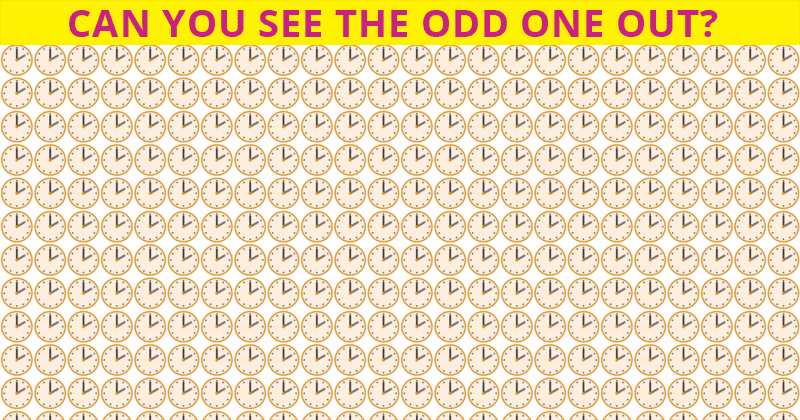Almost No One Can Ace This Odd One Out Puzzle. Are You Up To The Task?