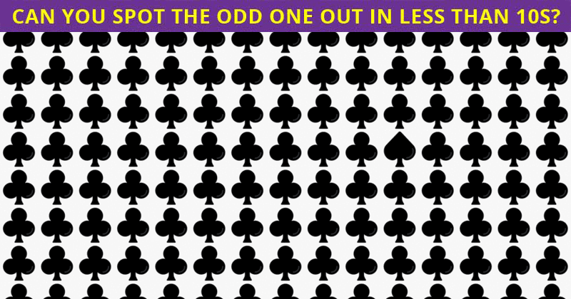 If You Can Pass This Difficult Multiple Odd Ones Out Puzzle In 30 Seconds You're Seriously Amazing Vision!