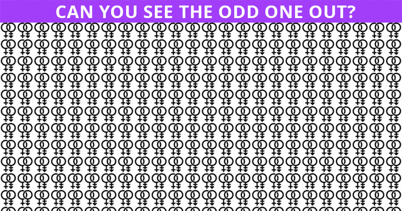 If You Can Pass This Difficult Odd One Out Visual Challenge In 60 Seconds You're Seriously Amazing Vision!