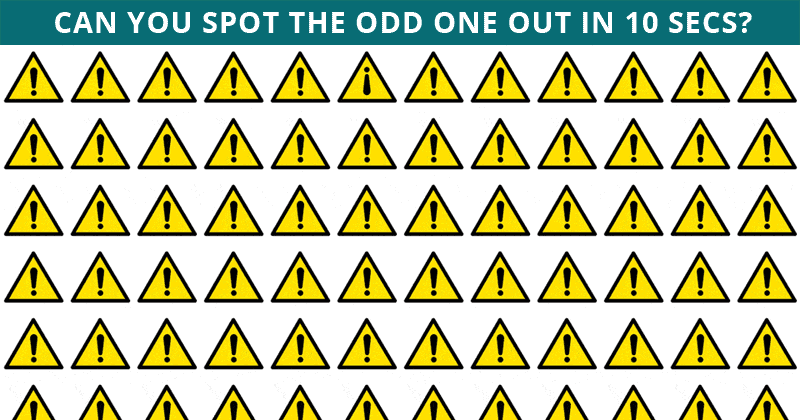 This Odd One Out Visual Quiz Will Determine Your Visual Perception Abilities In Less Than One Minute