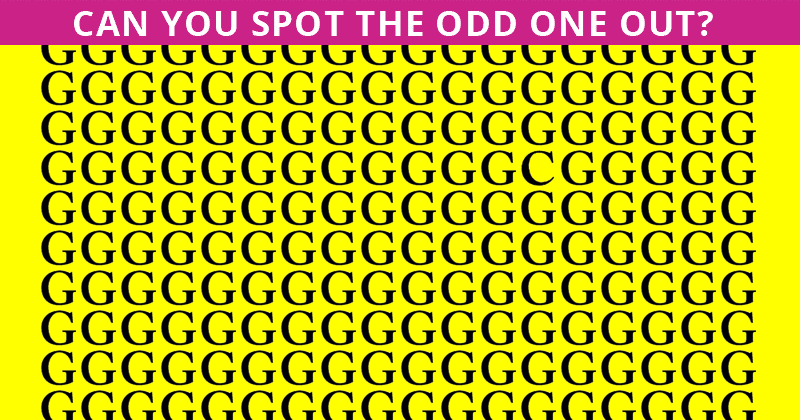 This Puzzle Is Driving The Internet Insane. Can You Spot The Odd One Out Immediately?