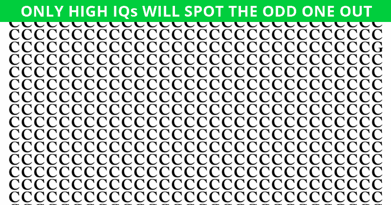 This Odd One Out Visual Game Will Determine The Sharpness Of Your Eyesight In Less Than One Minute