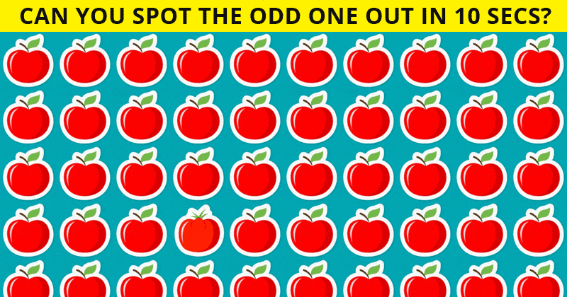 Only 4% Of People Can Beat This Tough Odd One Out Visual Test. How About You?