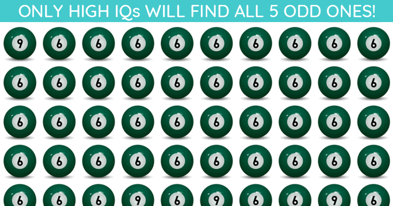 Only 1 In 50 People Can Ace This Odd One Out Visual Task. Are You Up To The Task?