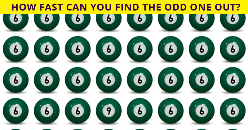 This Odd One Out Puzzle Will Determine Your Visual Perception Abilities In About 60 Seconds