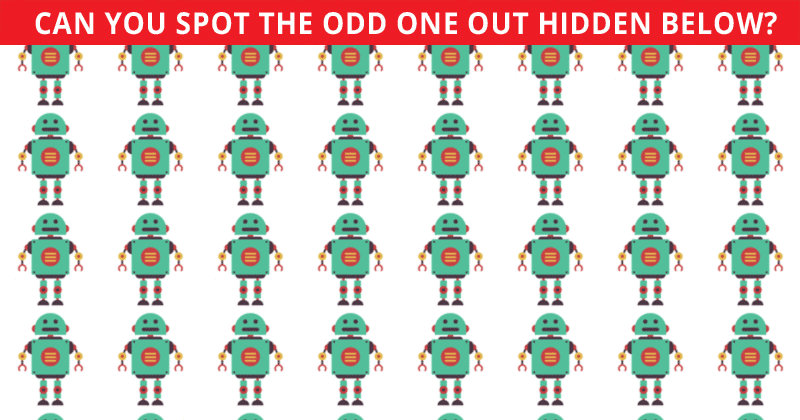 Only 1 In 30 Sharp-Eyed People Can Ace This Odd One Out Visual Puzzle. How About You?