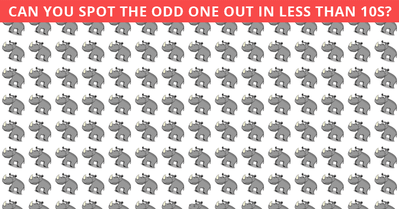 This Odd One Out Visual Game Will Determine Your Visual Perception Talents!