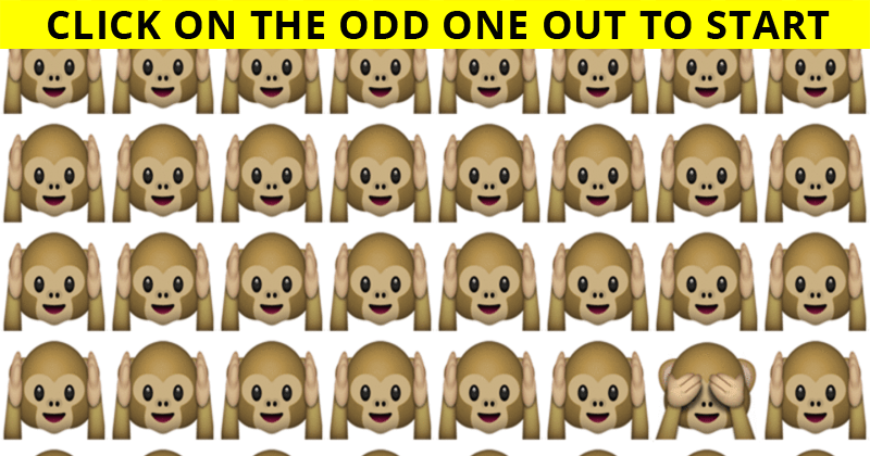 Only 4% Of People Can Achieve 100% In This Odd One Out Visual Test. Are You Up To The Task?