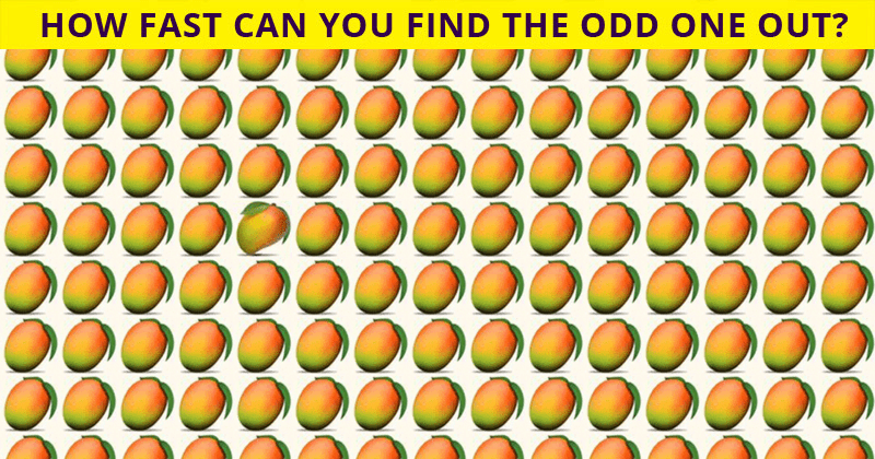 This Odd One Out Quiz Will Determine Your Visual Perception In Less Than 60 Seconds