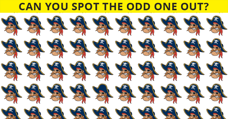 Only 1 In 30 People Can Beat This Difficult Odd One Out Visual Test. How About You?