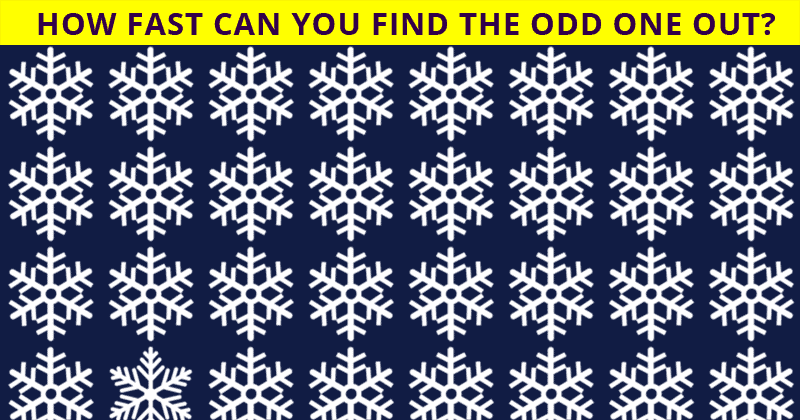 If You Can Pass This Multi-Level Odd One Out Challenge In Less Than 60 Seconds, You Have Unique Eyesight