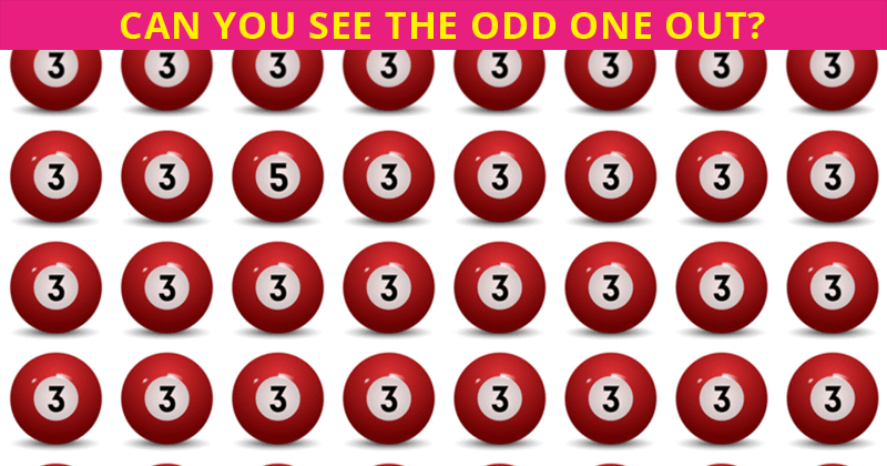 This Odd One Out Visual Game Will Determine Your Visual Perception In Less Than One Minute
