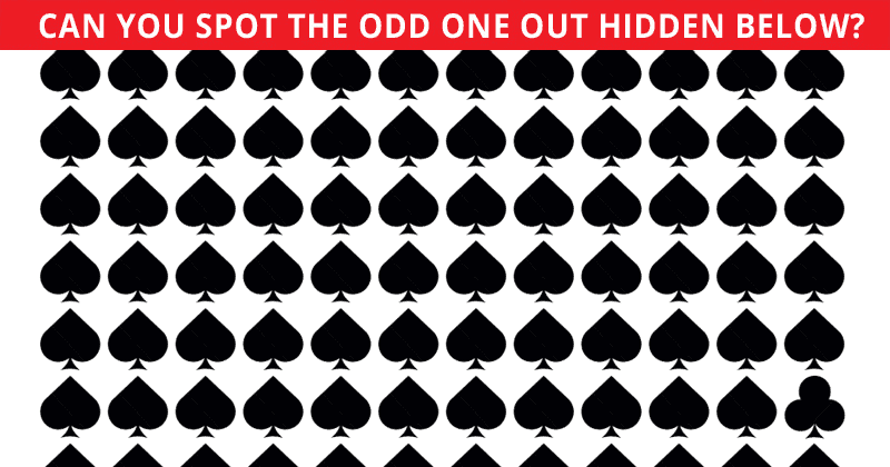 This Odd One Out Visual Quiz Will Determine Your Visual Perception In One Minute
