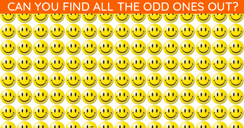 Only 1 In 30 Sharp-Eyed People Can Ace This Multiple Odd Ones Out Visual Test. How About You?