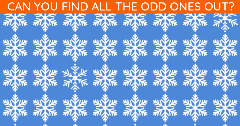 Only 1 In 30 Sharp-Eyed People Can Ace This Challenging Odd One Out Visual Puzzle. How About You?