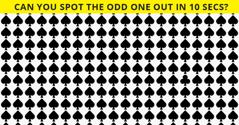 This Odd One Out Visual Puzzle Will Determine Your Visual Perception Abilities In One Minute