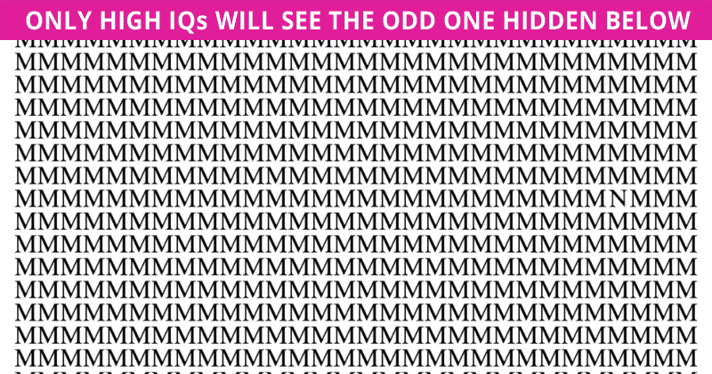 Only 1 In 30 People Can Beat This Tough Odd One Out Puzzle. How About You?