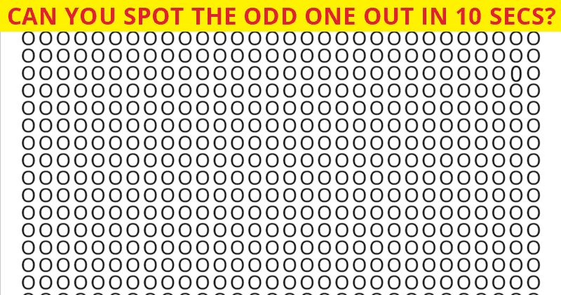 How Fast Can You Find The Odd One Out In This Visual Test?