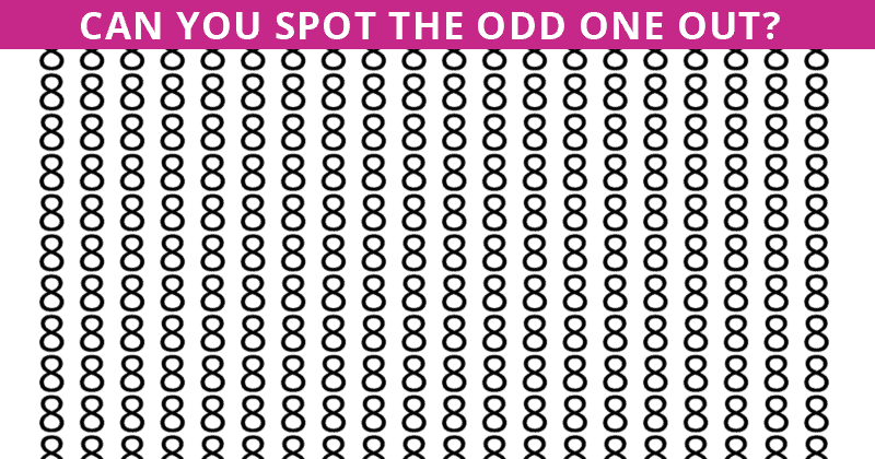 Only 25 People Have Passed This Odd One Out Visual Puzzle So Far! Will You?