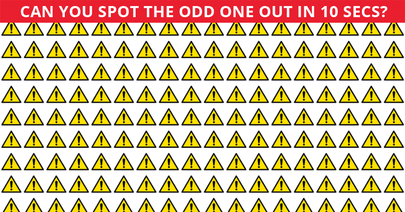 This Odd One Out Test Will Determine Your Visual Perception In 60 Seconds