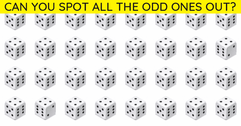 How Quickly Can You Complete This Multi-Level Multiple Odd Ones Out Visual Challenge? Not Many Can Do It In Under 60 Seconds!