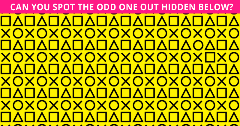 This Odd One Out Visual Game Will Determine Your Visual Perception Abilities In Less Than One Minute