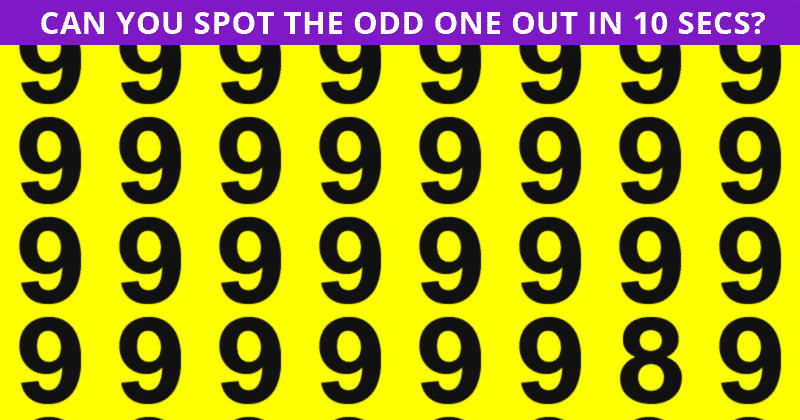 This Odd One Out Puzzle Will Determine Your Visual Perception In About 60 Seconds