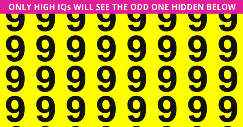 If You Can Pass This Odd One Out Game In 30 Seconds, You Have Unique Eyesight