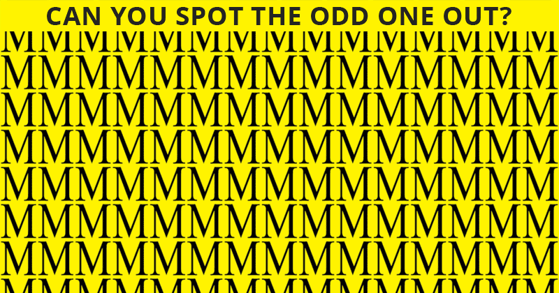 This Odd One Out Puzzle Will Determine Your Visual Perception In 60 Seconds