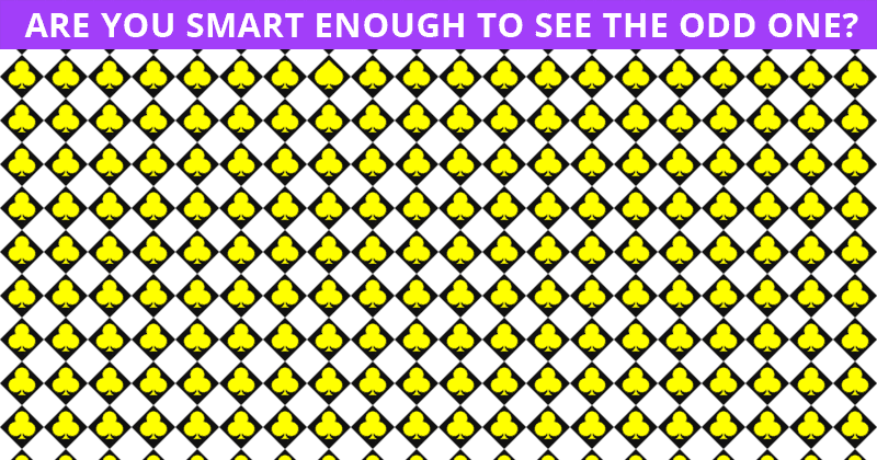 Only 1 In 50 People Can Achieve 100% In This Odd One Out Visual Test. Are You Up To The Task?